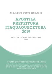 Apostila AGENTE DE ZOONOSES Prefeitura Itaquaquecetuba 2019