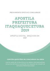 Apostila Técnico de Laboratório Prefeitura Itaquaquecetuba 2019
