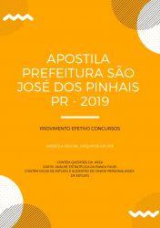 Apostila NUTRICIONISTA - Prefeitura São José dos Pinhais 2019