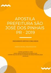 Apostila PSICÓLOGO - Prefeitura São José dos Pinhais 2019