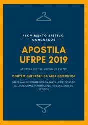 Apostila ADMINISTRADOR UFRPE 2019
