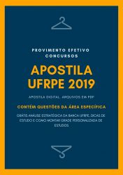 Apostila ENGENHEIRO CIVIL UFRPE 2019