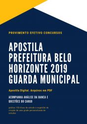 Apostila GUARDA MUNICIPAL Prefeitura Belo Horizonte 2019