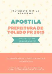 Apostila NUTRICIONISTA Prefeitura de Toledo 2019