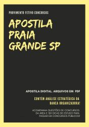 Apostila NUTRICIONISTA Prefeitura Praia Grande 2019