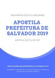 Apostila Técnico Segurança do Trabalho Prefeitura de Salvador 2019