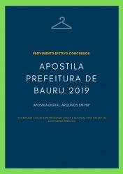 Apostila Prefeitura Bauru ADMINISTRADOR 2019