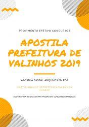 Apostila Prefeitura de Valinhos AUDITOR FISCAL 2019