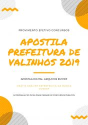 Apostila Prefeitura de Valinhos Agente de Combate às Endemias 2019