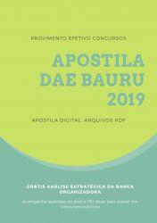 Apostila DAE Bauru Analista de Sistemas 2019