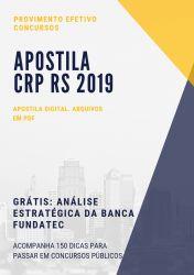 Apostila CRP RS PSICÓLOGO FISCAL 2019