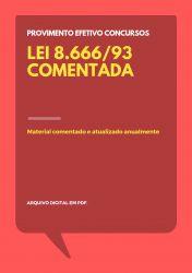 Lei 8.666/93 Comentada para Concursos