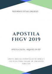 Apostila FHGV Fonoaudiólogo 2019
