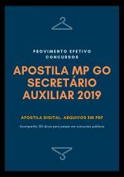 Apostila MP GO SECRETÁRIO AUXILIAR 2019