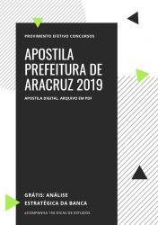 Apostila Prefeitura Aracruz Cirurgião Dentista 2019