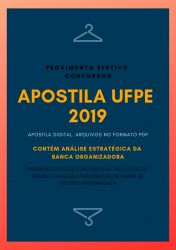 Apostila UFPE Técnico Segurança do Trabalho 2019