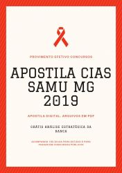 Apostila CIAS SAMU MG Auxiliar Administrativo 2019