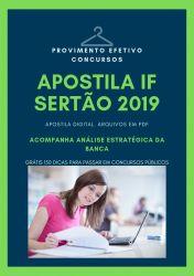 Apostila IF Sertão Engenheiro Agrônomo 2019
