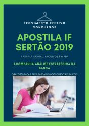 Apostila IF Sertão Nutricionista 2019