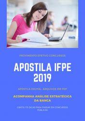 Apostila IFPE Técnico de Laboratório QUÍMICA 2019
