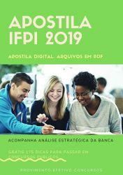 Apostila IFPI Assistente de Alunos 2019