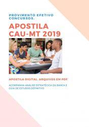 Apostila CAU MT Agente de Fiscalização 2019