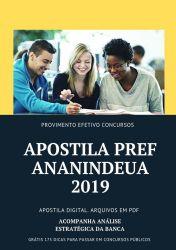 Apostila Prefeitura Ananindeua Agente Comunitário de Saúde 2019
