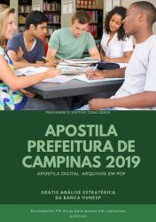 Apostila ENFERMEIRO Prefeitura de Campinas 2019