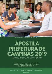 Apostila FARMACÊUTICO Prefeitura de Campinas 2019