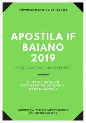 Apostila IF Baiano ODONTÓLOGO 2019