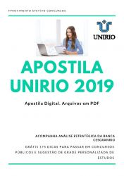 Apostila UNIRIO PSICÓLOGO 2019
