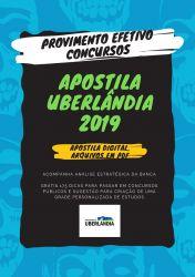 Apostila Agente de Zoonoses Prefeitura de Uberlândia 2019