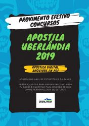Apostila Oficial Administrativo Prefeitura de Uberlândia 2019