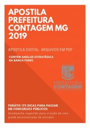 Apostila PSICÓLOGO Prefeitura Contagem 2019