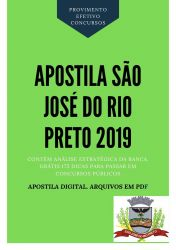 Apostila Agente Administrativo Prefeitura São José Rio Preto 2019
