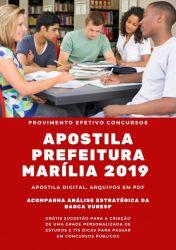 Apostila Engenheiro Civil Prefeitura Marília 2019
