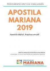 Apostila Nutricionista Prefeitura de Mariana 2019