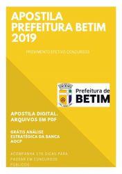 Apostila Assistente Social Prefeitura Betim 2019