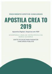 Apostila Agente de Fiscalização CREA TO 2019
