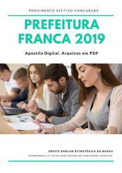 Apostila Terapeuta Ocupacional Prefeitura Franca 2019