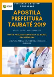 Apostila DENTISTA Prefeitura Taubaté 2019