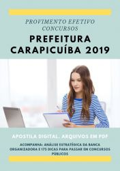 Apostila Biomédico Prefeitura Carapicuíba 2019