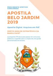 Apostila Nutricionista Prefeitura Belo Jardim 2019