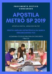 Apostila Enfermeiro do Trabalho Metrô SP 2019