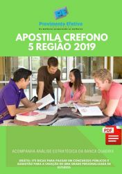 Apostila Fonoaudiólogo Fiscal CREFONO 5 Região 2019