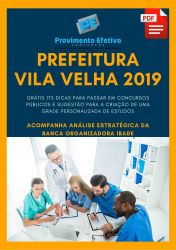 Apostila Farmacêutico Prefeitura Vila Velha 2019
