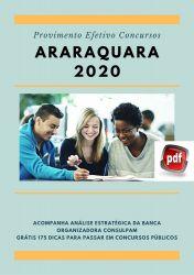 Apostila Guarda Civil Prefeitura Araraquara 2020