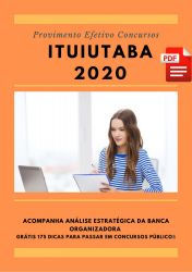 Apostila Agente de Endemias Prefeitura Ituiutaba 2020