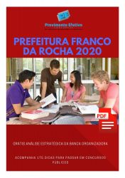 Apostila Fonoaudiólogo Prefeitura Franco da Rocha 2020
