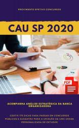 Apostila CAU SP Analista Técnico em Arquitetura e Urbanismo 2020